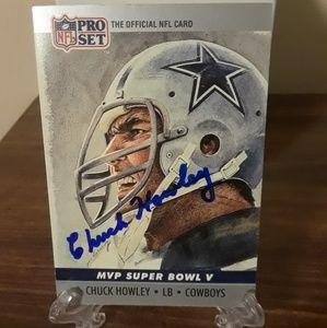 Other - Dallas Cowboy Legend Chuck Howley Autograph